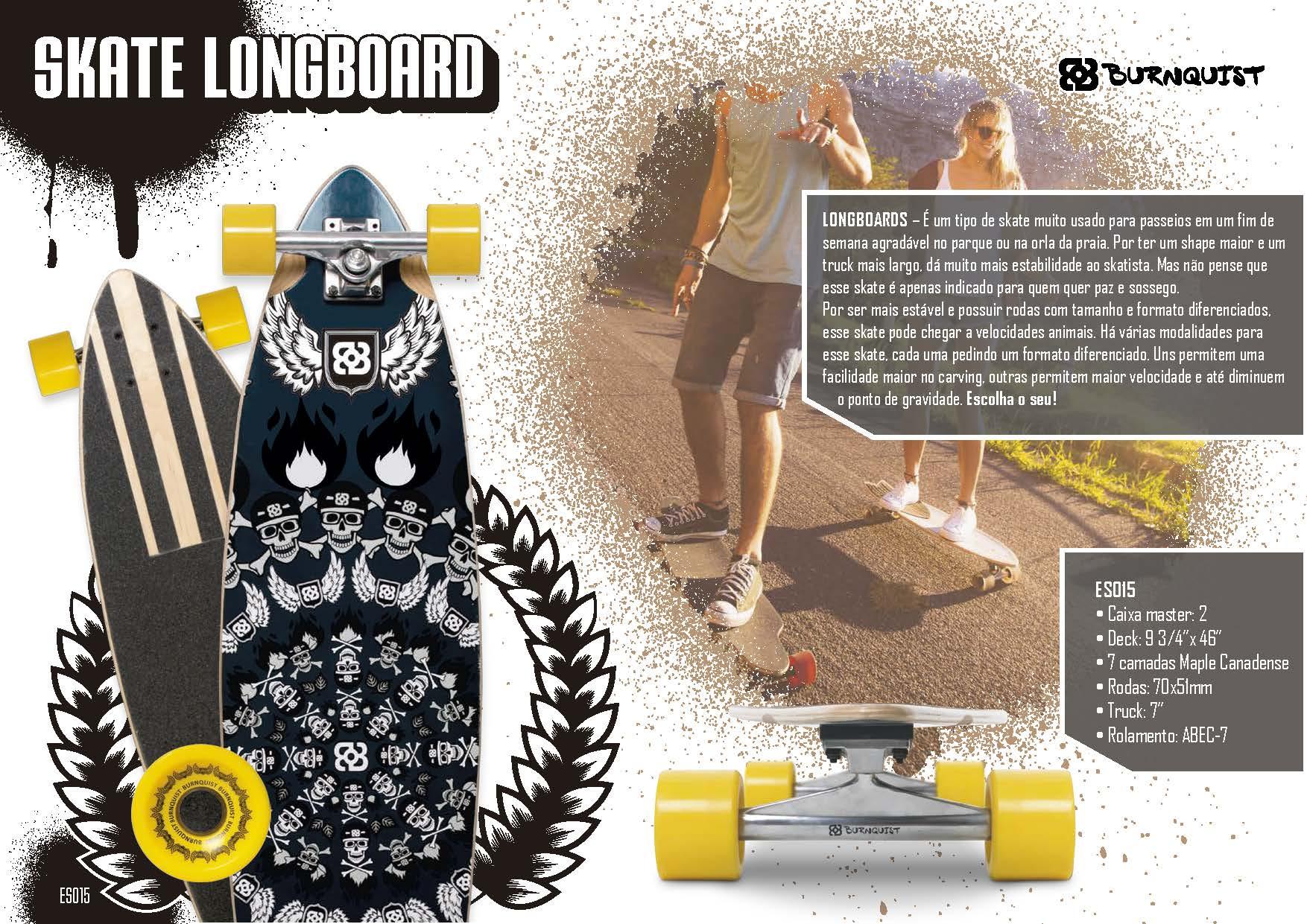bc869e44e0367 Skate Bob Burnquist longboard Multilaser ES015