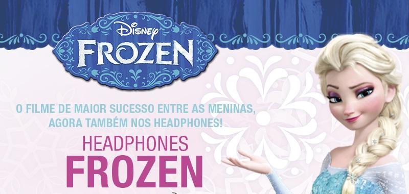 Fone de ouvido / headphone ajustável frozen